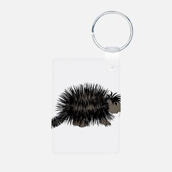 Cartoon Porcupine Graphic Keychains