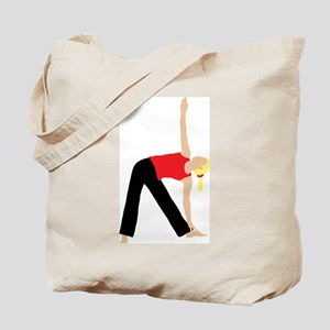 Blond Woman Doing a Yoga Stretch Tote Bag
