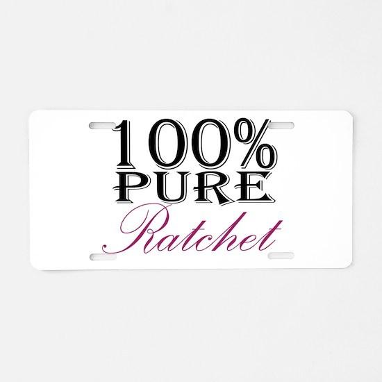 100% Pure Ratchet Aluminum License Plate
