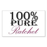 100% Pure Ratchet Sticker (Rectangle 50 pk)