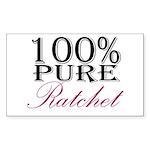 100% Pure Ratchet Sticker (Rectangle 10 pk)
