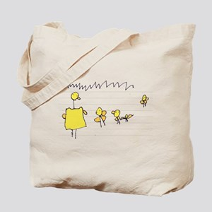 Quackie the Duck and Family Tote Bag