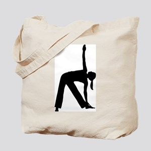 Silhouette of a Woman Exercising Tote Bag