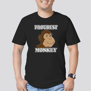 Proudest Monkey Men's Fitted T-Shirt (dark)