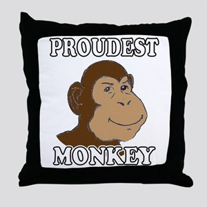 Proudest Monkey Throw Pillow