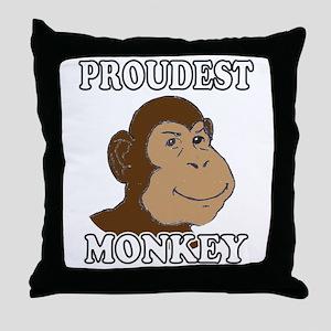 Proudest Monkey Throw Pillow