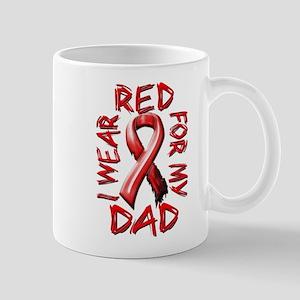 I Wear Red for my Dad Mug