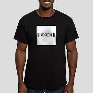 Workout logo Men's Fitted T-Shirt (dark)