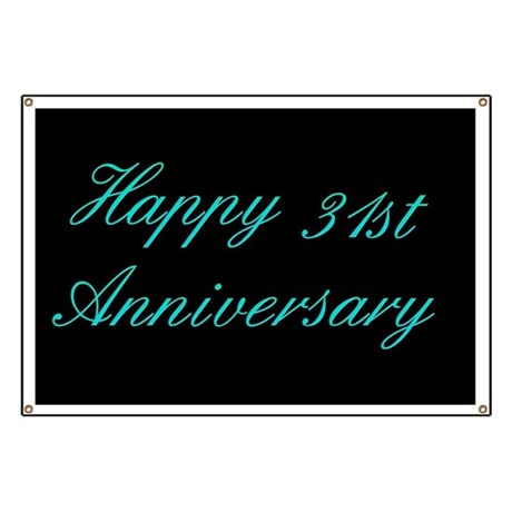 Happy 31st Anniversary Banner Banner By Retroculture