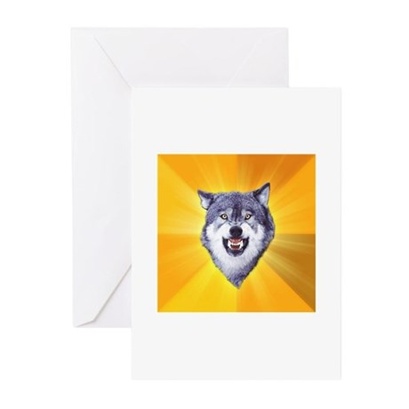 Courage Wolf No Text Greeting Cards (Pk of 20)
