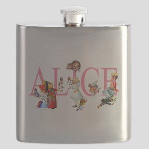 ALICE & FRIENDS IN WONDERLAND Flask