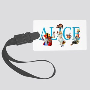 ALICE & FRIENDS IN WONDERLAND Large Luggage Tag