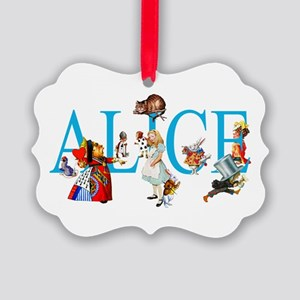 ALICE & FRIENDS IN WONDERLAND Picture Ornament