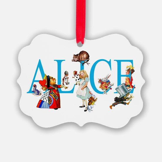ALICE & FRIENDS IN WONDERLAND Ornament