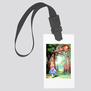 Alice and the Cheshire Cat Large Luggage Tag