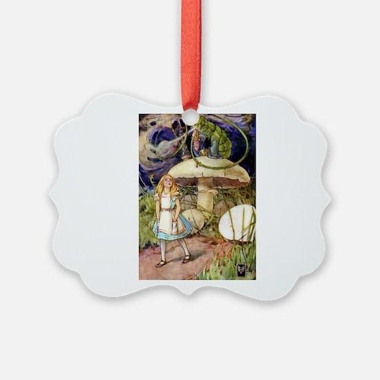 ALICE & THE CATERPILLAR Ornament