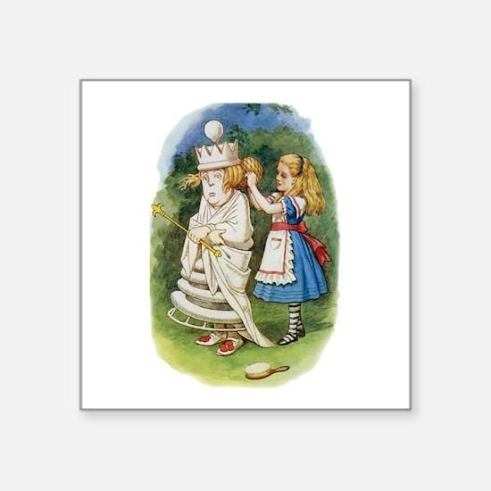 """ALICE & THE WHITE QUEEN Square Sticker 3"""" x 3"""""""