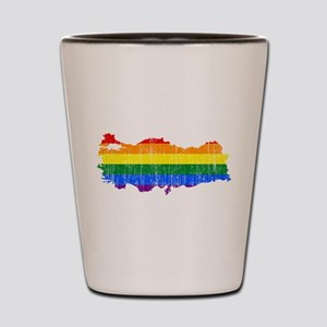 Turkey Rainbow Pride Flag And Map Shot Glass