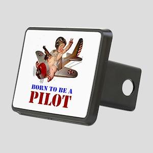 BORN TO BE A PILOT Rectangular Hitch Cover
