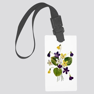 violets_Embroidery036 copy Large Luggage Tag