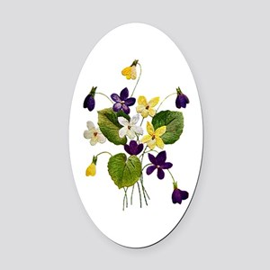 violets_Embroidery036 copy Oval Car Magnet