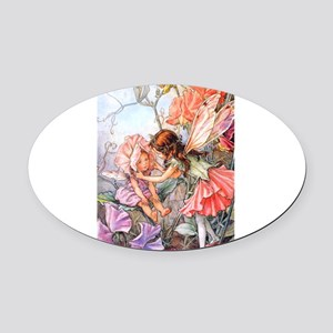 Sweet_Pea_poster_Fairy Oval Car Magnet