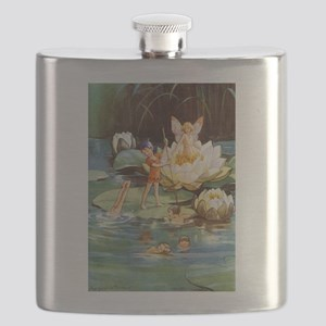 FAIRIES_Water Lily_SQ Flask
