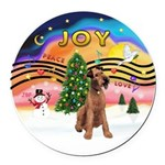 XMusic2-Lakeland Terrier Round Car Magnet