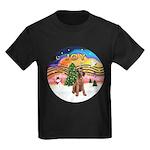 XMusic2-Lakeland Terrier Kids Dark T-Shirt