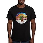 XMusic2-Lakeland Terrier Men's Fitted T-Shirt (dar