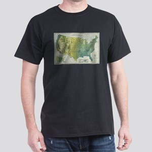 Vintage United States Precipitation Map (1 T-Shirt