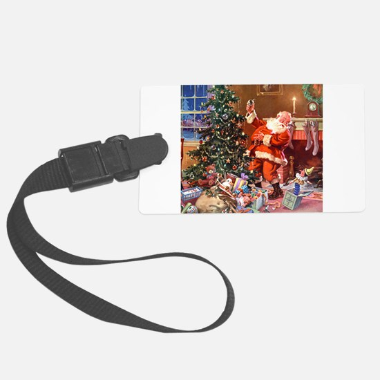Santa Claus 1_SQ_ADJ.png Luggage Tag