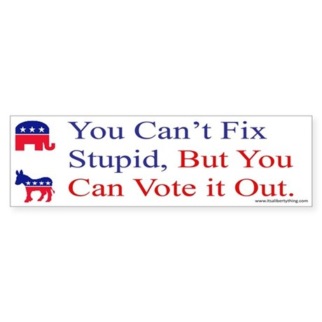 You Cant Fix Stupid Sticker (Bumper)