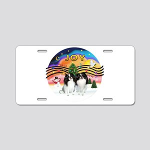 XM2-TwoJapaneseChins Aluminum License Plate
