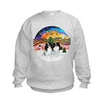 XM2-TwoJapaneseChins Kids Sweatshirt