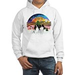 XM2-TwoJapaneseChins Hooded Sweatshirt