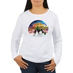 XM2-TwoJapaneseChins Women's Long Sleeve T-Shirt