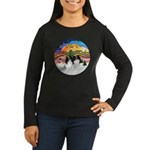 XM2-TwoJapaneseChins Women's Long Sleeve Dark T-Sh