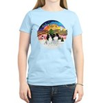 XM2-TwoJapaneseChins Women's Light T-Shirt