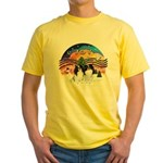 XM2-TwoJapaneseChins Yellow T-Shirt