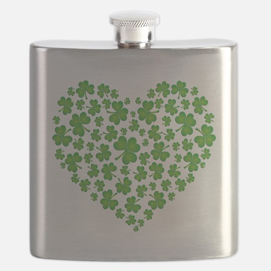 MY IRISH SHAMROCK HEART Flask