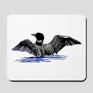 loon on lake Mousepad