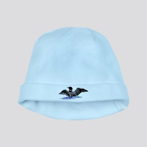 loon on lake baby hat