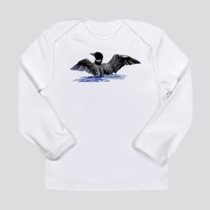 loon on lake Long Sleeve Infant T-Shirt