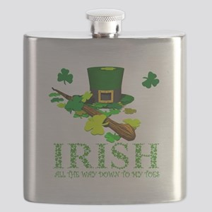 IRISH DOWN TO MY TOES Flask