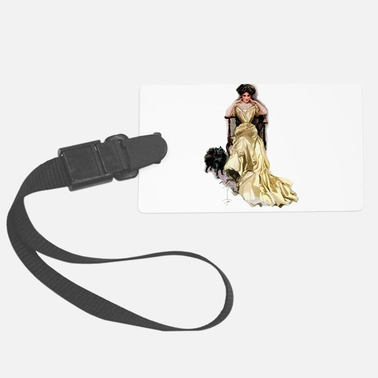 Harrison_Fisher_-_yellow_Satin.png Luggage Tag