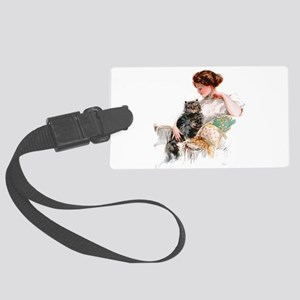 FISHER_ON THE PORCH Large Luggage Tag