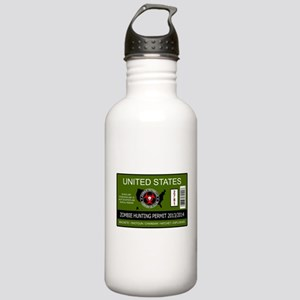 zombie hunting permit Stainless Water Bottle 1.0L