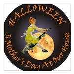 modern witch clock copy.png Square Car Magnet 3