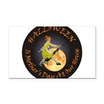 modern witch clock copy.png Rectangle Car Magnet